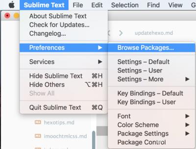 sublime插件文件夹